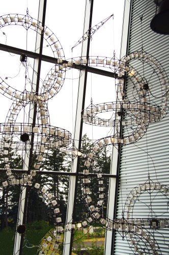 Paul Sorey, Roadworks, 2008, stainless steel, digital electronics, LED lights, 18 x 12 x 5 ft.